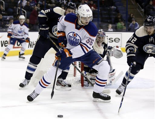Paajarvi leads Oilers past Blue Jackets 3-1