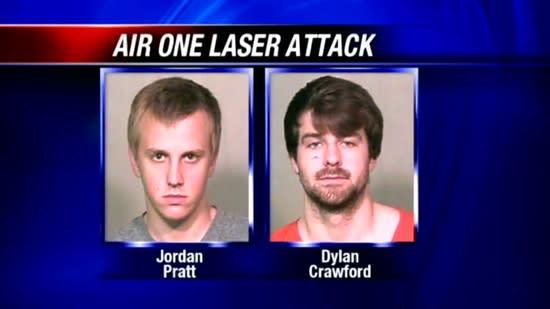 2 men arrested in Air One laser attack