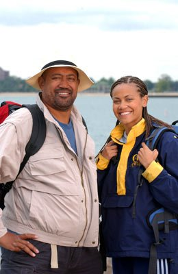 Father and daughter Gus and Hera CBS' The Amazing Race 6