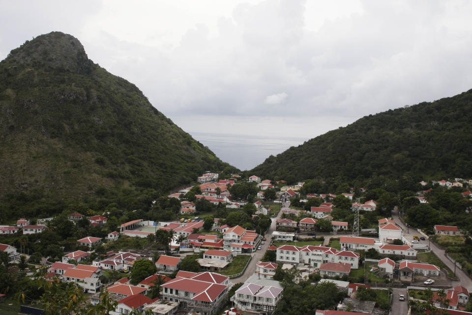 This May 6, 2012 image shows a view of The Bottom, which is the capital of the mountainous island of Saba. The Caribbean island is a Dutch municipality and is popular with divers. (AP Photo/Brian Witte)