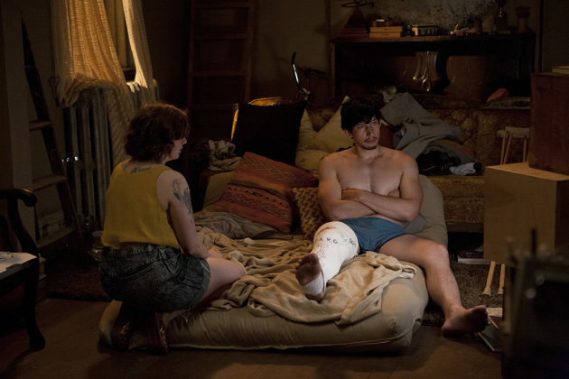 "Lena Dunham, Adam Driver in the ""Girls"" Season 2 episode, ""It's About Time."""