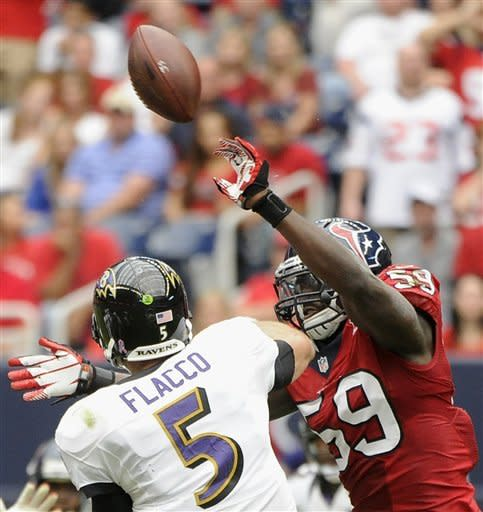 Texans dominate Ravens 43-13