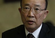 So Se Pyong, North Korea&#39;s ambassador to the U.N. in Geneva, addresses the Conference on Disarmament at the United Nations in Geneva February 27, 2013. North Korea accused the United States on Wednesday of contributing to an &quot;unpredictable&quot; situation on the divided Korean peninsula and abusing its power in the U.N. Security Council to impose its &quot;hostile policy&quot; against Pyongyang. REUTERS/Denis Balibouse