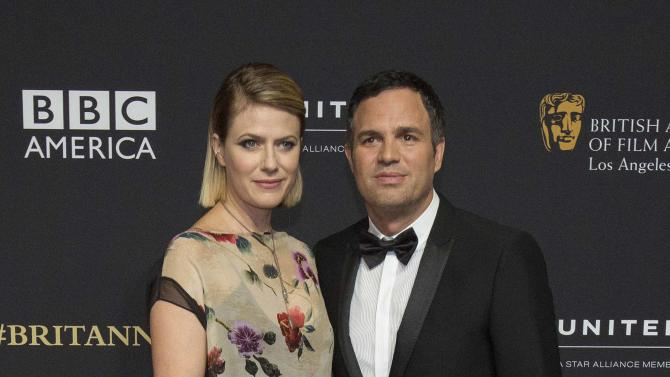 Actor Ruffalo and his wife Sunrise Coigney pose at the BAFTA Los Angeles Britannia Awards at the Beverly Hilton hotel in Beverly Hills