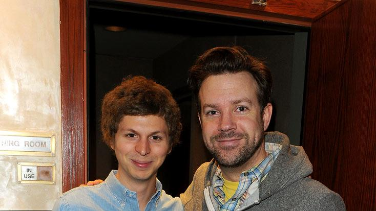 Michael Cera and Jason Sudeikis attend the Juror Welcome Lunch At The 2011 Tribeca Film Festival at Tribeca Lofts on April 21, 2011 in New York City.
