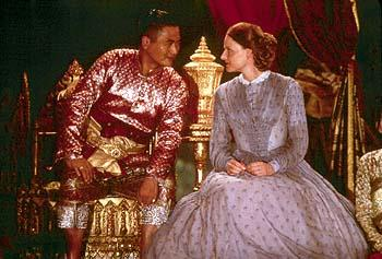 Chow Yun-Fat as King Mongkut and Jodie Foster as Anna Leonowens in 20th Century Fox's Anna And The King
