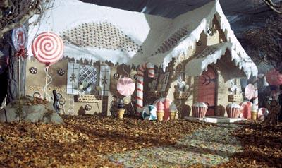 The gingerbread house in Tag Entertainment's Hansel & Gretel