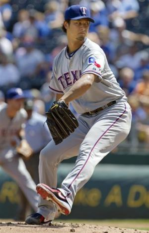 Darvish perfect into 6th as Rangers bop Royals 8-4