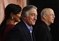 Actor Robert De Niro walks the red carpet for the showing of &quot;The Five-Year Engagement&quot;, which opened the 2012 Tribeca Film Festival in New York on April 18