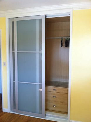 Turn a closet into an IKEA hack.
