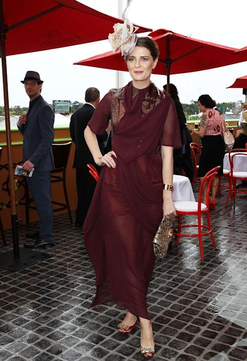 "Mischa Barton turned heads earlier this week upon arriving at Australia's Melbourne Cup horse race in yet another one of her eccentric ensembles. The former ""O.C."" star -- who nowadays l"