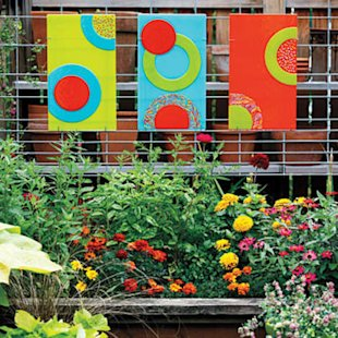 Try some vivid outdoor art