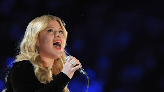 Kelly Clarkson performs on stage at the 55th annual Grammy Awards on Sunday, Feb. 10, 2013, in Los Angeles. (Photo by John Shearer/Invision/AP)