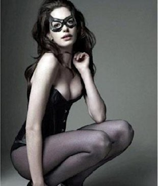 How Anne Hathaway got catsuit ready!