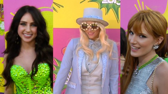 The Thread Gets the Fashion Scoop at the Kids' Choice Awards Orange Carpet