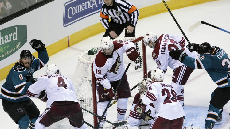 NHL: Phoenix Coyotes at San Jose Sharks