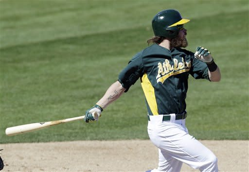 Reddick hits 3-run homer, leads A's to win