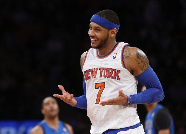 Carmelo Anthony calls 'em like he sees 'em. (AP/Jason DeCrow, File)