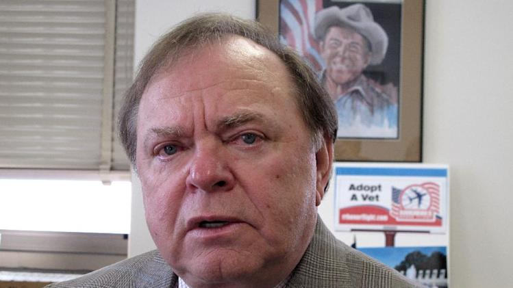 FILE - In this Dec. 6, 2010, file photo, Harold Hamm, chief executive officer of Continental Resources Inc. of Enid, Okla., speaks during an Associated Press interview in Bismarck, N.D. Hamm didn't wait long to make a nearly $1 million donation to a group supporting Republican presidential candidate Mitt Romney after he became one of Romney's top energy advisers in March. Just weeks after Hamm joined the Romney campaign, he gave $985,000 to a pro-Romney super PAC, according to campaign reports. Hamm's company, Continental Resources Inc., oversees oilfield stakes in North Dakota and Montana, and Hamm has been disdainful of President Barack Obama's energy policies. (AP Photo/Dale Wetzel, File)