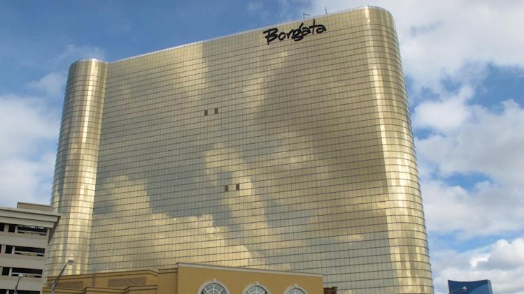 The Borgata Hotel Casino & Spa in Atlantic City NJ, shown here in a Sept. 19, 2011 photo, lost $10 million in revenue when it had to shut down for three days for Hurricane Irene at the end of August. (AP Photo/Wayne Parry)