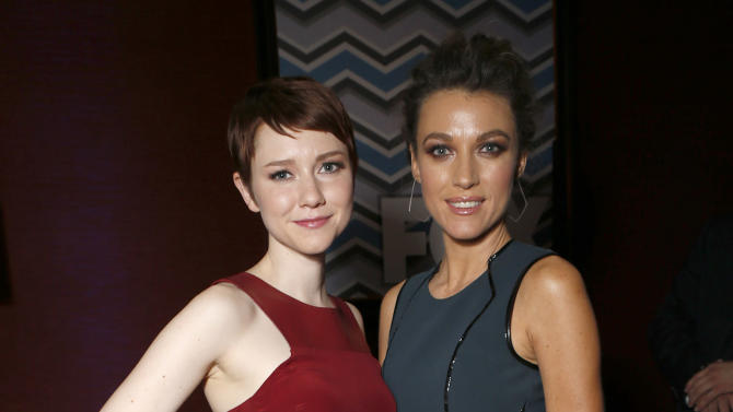 Valorie Curry and Natalie Zea attend the Fox Winter TCA All Star Party at the Langham Huntington Hotel on Tuesday, Jan. 8, 2013, in Pasadena, Calif. (Photo by Todd Williamson/Invision/AP)