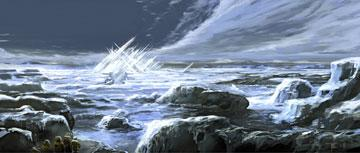 Conceptual art for the Fortress of Solitude Warner Bros. Pictures' Superman Returns