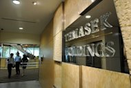 The reception area at Singapore investment firm Temasek. The company said Wednesday it will cut its stake in local telecom giant SingTel, which one analyst said could point to a shift to higher-yielding emerging markets