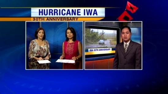 Thanksgiving in Hawaii after Hurricane Iwa hit in 1982