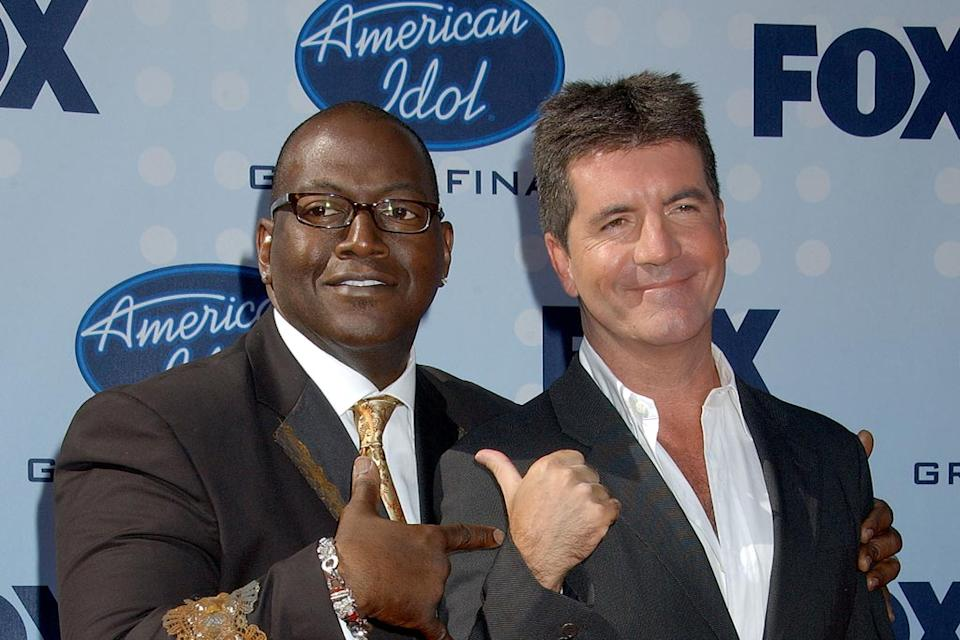 Randy Jackson and Simon Cowell arrive at the Season 6 American Idol finale.