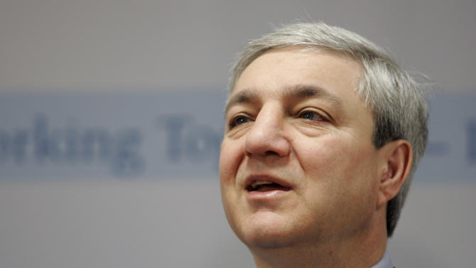 FILE - In this March 7, 2007 file photo, Penn State University President Graham Spanier speaks during a news conference at the Penn State Milton S. Hershey Medical Center in Hershey, Pa. A year after retired assistant coach Jerry Sandusky's arrest on child sex abuse charges, the fallout from the sweeping scandal promises to linger for months, if not years, to come. New charges that former university president Spanier conspired to conceal allegations provided the latest agonizing reminder. (AP Photo/Carolyn Kaster, File)
