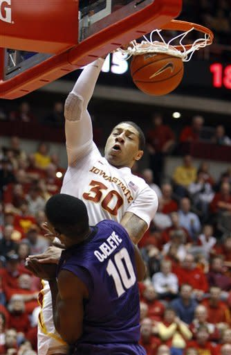 White, Iowa State rally past Kansas State 72-70