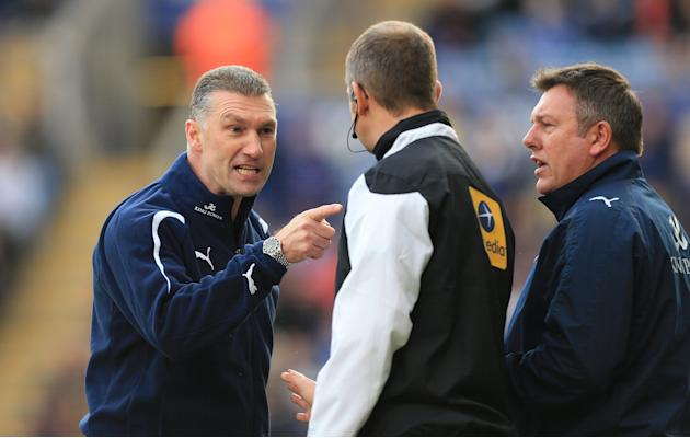 Nigel Pearson, left, felt Leicester were not given a fair deal by the match officials