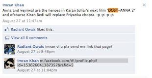 Facebook Pages and Groups Against Anna Hazare