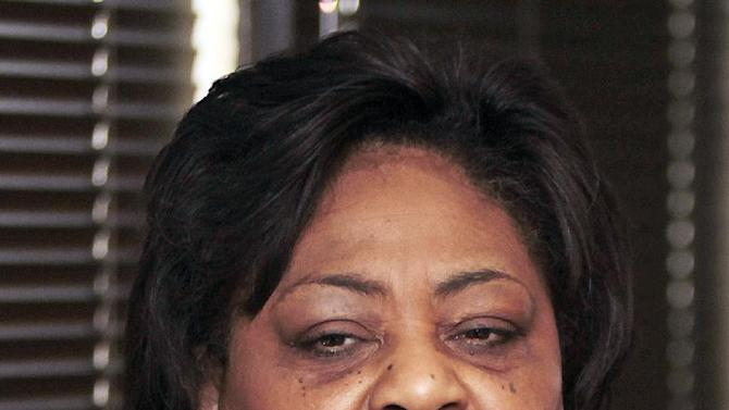 FILE- In this Feb. 22, 2011, file photo, Shirley Sherrod, the former Agriculture Department official who was forced to resign her position after being falsely accused of making racist comments, speaks in Atlanta. White House officials were in close contact with the Agriculture Department in the hours leading up to Agriculture Secretary Tom Vilsack's decision to fire Sherrod in 2010, according to nearly 2,000 pages of internal emails released by the administration. Emails obtained by The Associated Press under the Freedom of Information Act don't contradict Vilsack's assertion that he made the decision to oust Sherrod as the department's director of rural development in Georgia after an edited video of her making supposed racist remarks surfaced on a conservative website. (AP Photo/John Bazemore)