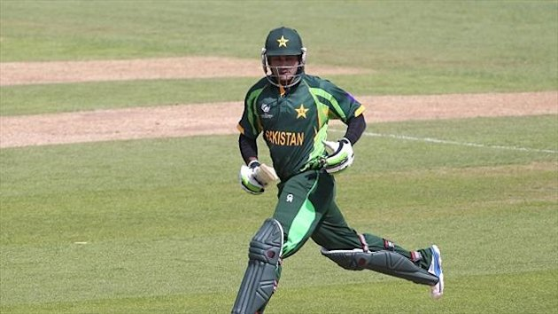 Mohammad Hafeez was clearing the ropes for Pakistan.