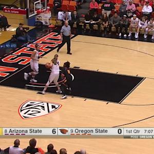 Highlights: No. 9 Oregon State women's basketball tied for first in Pac-12 after win over No. 8 Arizona State