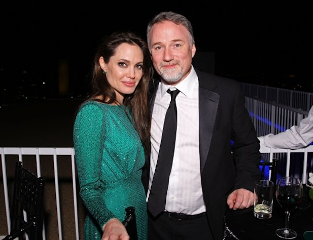 Angelina Jolie and David Fincher attend the Sony Pictures Classic 68th Annual Golden Globe Awards Party held at The Beverly Hilton hotel on January 16, 2011 -- Getty Images