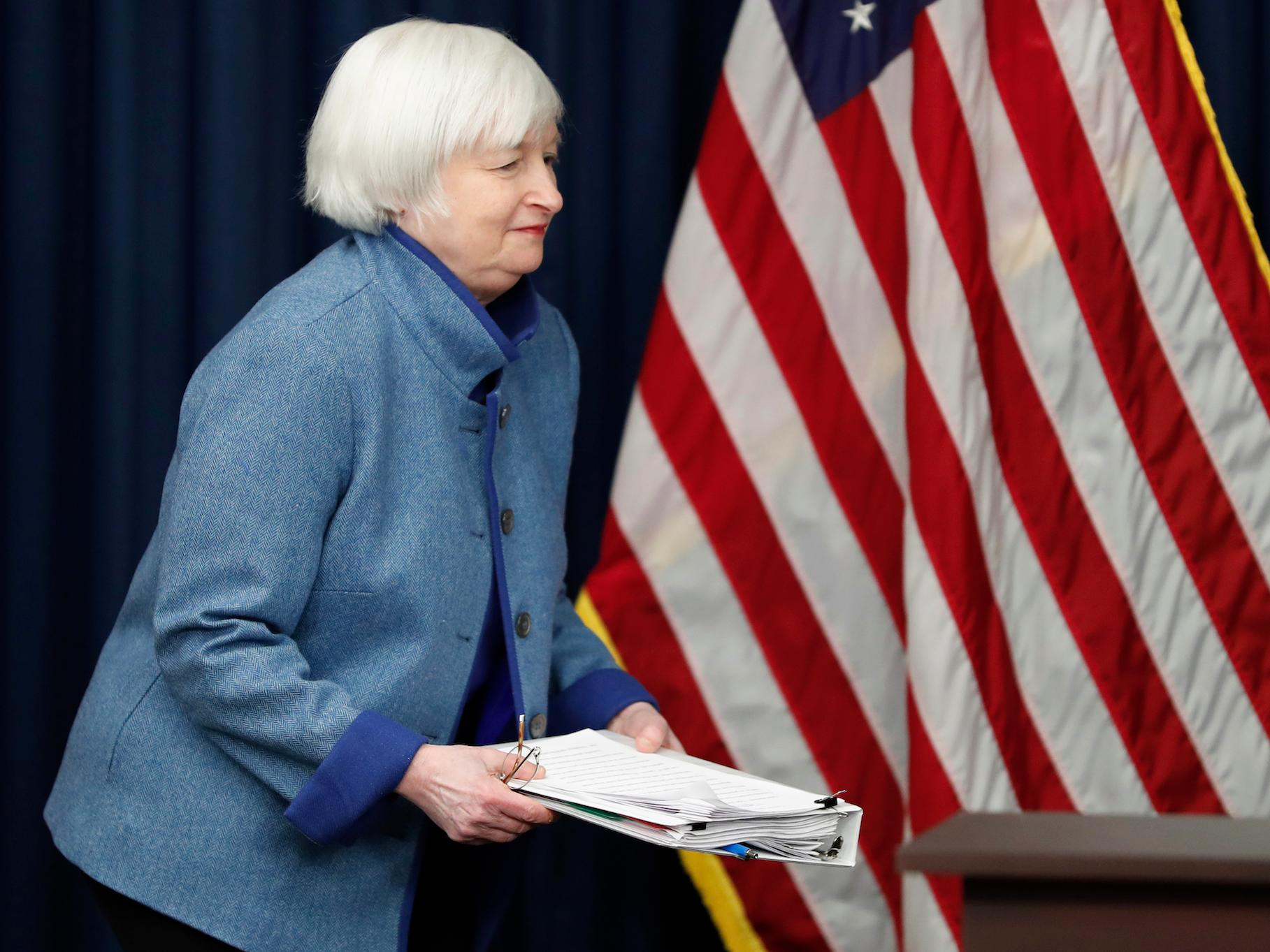 YELLEN: The Fed is close to its goals and expects to hike rates 'a few' times this year
