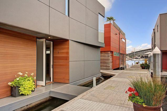 Anchor Down in a $3.3M Ward's Cove Modern Floating Home