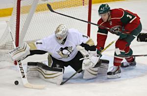 With Greiss in goal, Penguins glide past Wild 4-1