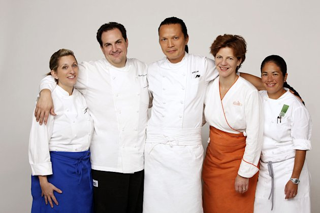 Chefs Debbie Gold, Rick Tramonto, Susur Lee, Jody Adams, and Maria Hines compete in the second season of &quot;Top Chef: Masters.&quot; 