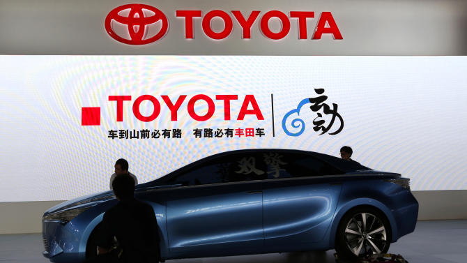 A Toyota concept car is set at the company's booth during the Guangzhou Auto Show in China's southern city of Guangzhou Thursday, Nov. 22, 2012. China's second largest auto show kicked off Thursday. (AP Photo/Vincent Yu)