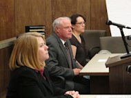 "Jessica Beagley, 36, is seen in court on Tuesday, Aug. 23, 2011, in Anchorage, Alaska. City prosecutor Cynthia Franklin is shown on the left, and in the middle is Beagley's attorney, William Ingaldson. A jury convicted Beagley of misdemeanor child abuse for squirting hot sauce into the mouth of her adopted Russian son as punishment in what prosecutors said was a ploy to get on the ""Dr. Phil"" TV show. (AP Photo/Mark Thiessen)"