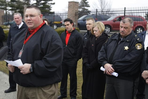 Chardon assistant football coach Frank Hall stopped a school gunman — AP