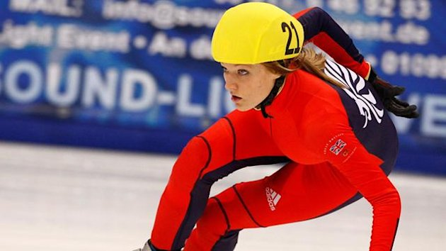 SHORT TRACK Britain's Elise Christie in action at the World Championships in Sofia