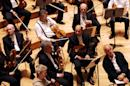 Members of the Boston Symphony Orchestra rehearse on September 4, 2007