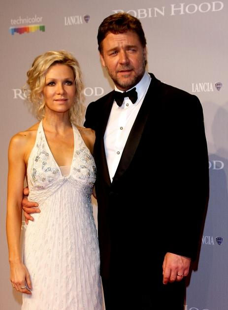 Russell Crowe and wife Danielle Spencer attend the opening night premiere of 'Robin Hood' at the Palais des Festivals during the 63rd Annual International Cannes Film Festival on May 12, 2010  -- Getty Images
