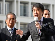 Osaka Mayor Toru Hashimoto gives a speech on November 29, 2012. Women on Japan's island chain of Okinawa on Wednesday demanded an apology from the outspoken Japanese politician who suggested US troops there make use of its thriving sex industry