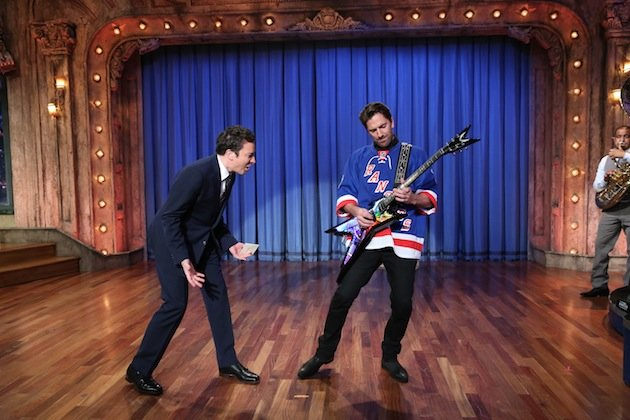 Watch Henrik Lundqvist Rock Out To Guns N' Roses On 'Late Night With Jimmy Fallon' (video)
