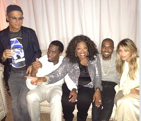 Kim Kardashian Shares Photo Hanging Out With Oprah Winfrey at Jimmy Iovine Bash